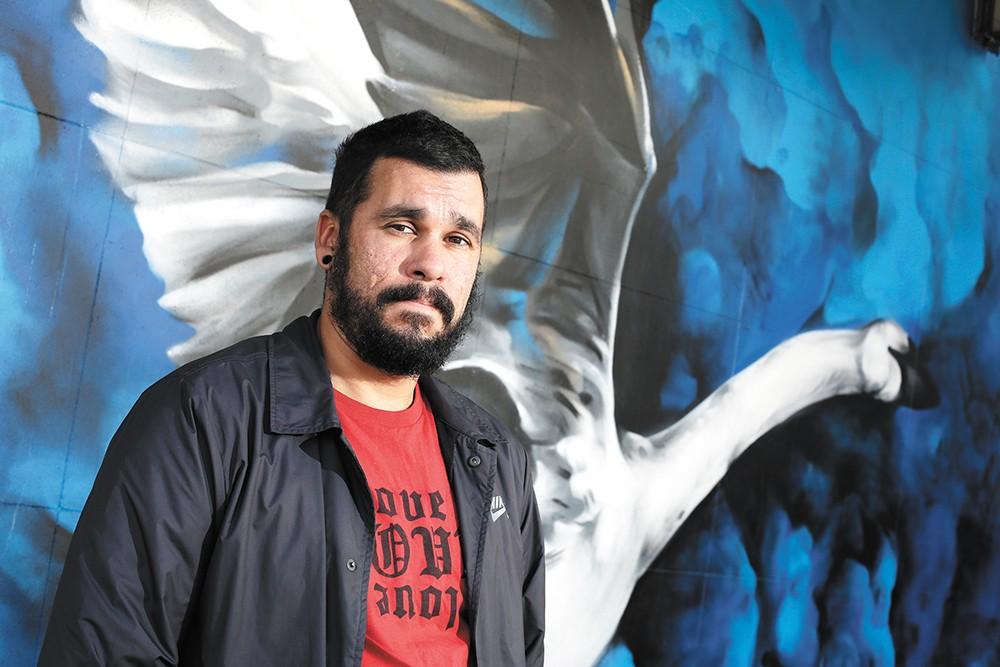 Spokane mural artist Daniel Lopez.
